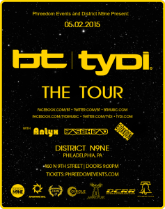 BT / tyDi are coming to Philly!